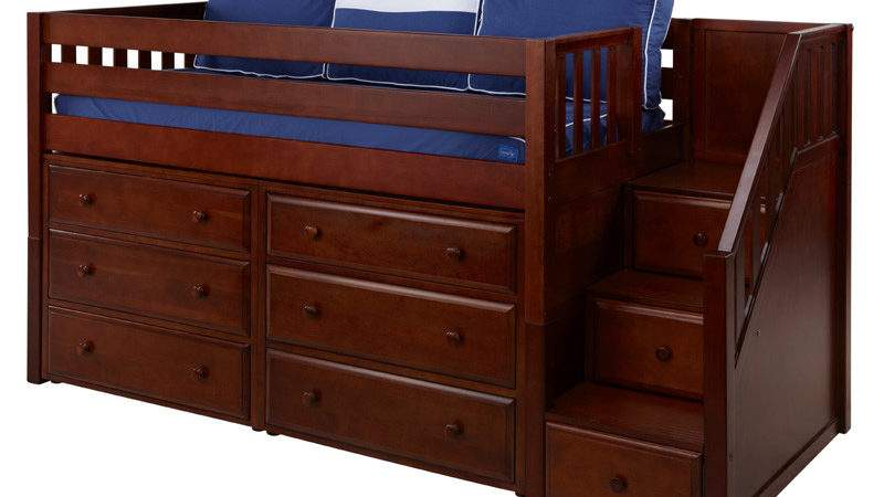 Great Low Loft Bed Dressers Staircase