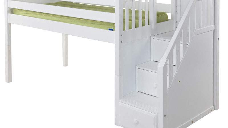 Great Low Loft Bed Staircase Rosenberryrooms