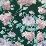 Green Floral Vintage Pink White Purple Lilacs