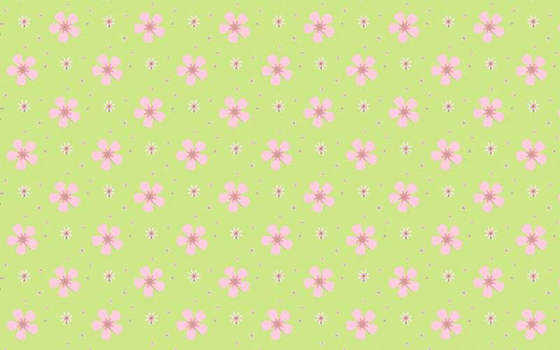 Green Pink Floral