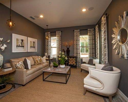 Grey Brown Living Room Houzz