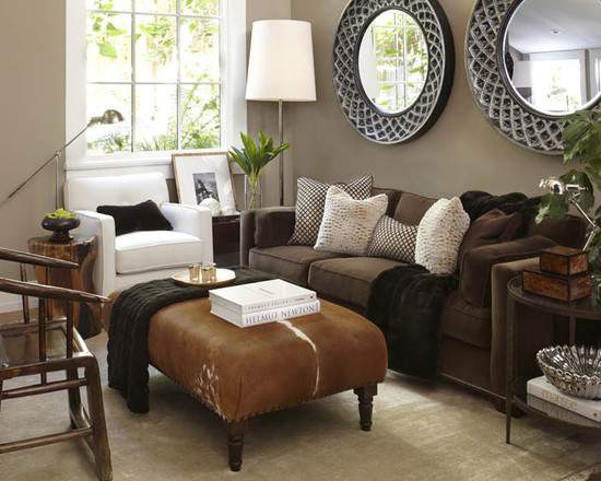 Grey Brown Living Room Interior Decorating Las Vegas