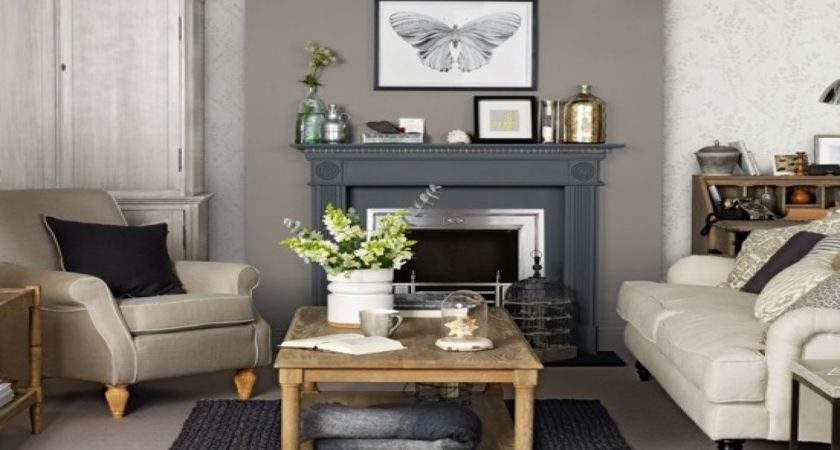 Grey Brown Living Room