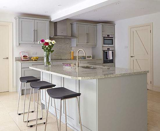 Grey Kitchen Breakfast Bar Decorating Ideal Home