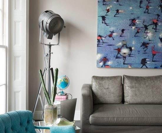 Grey Turquoise Living Room Decorating