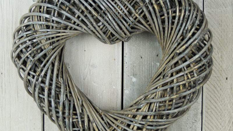 Greywashed Wicker Wreath Satchville Gift Christmas