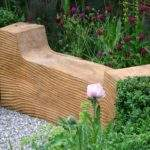 Growing Plants Garden Bench Round