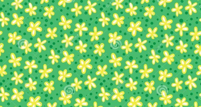 Grunge Pattern Small Flowers Leafs Vector