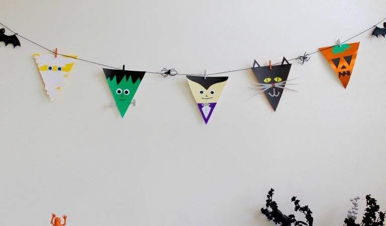 Halloween Bunting Flags Going Make