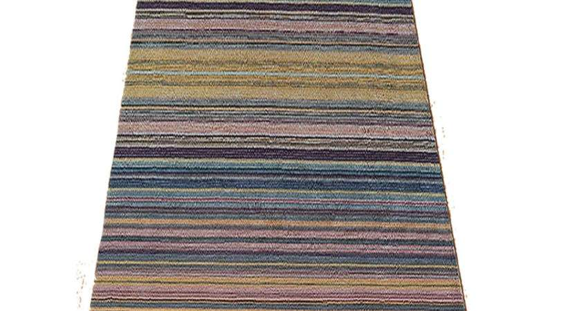 Hallway Rugs Asiatic Pimlico Blue Striped Runner