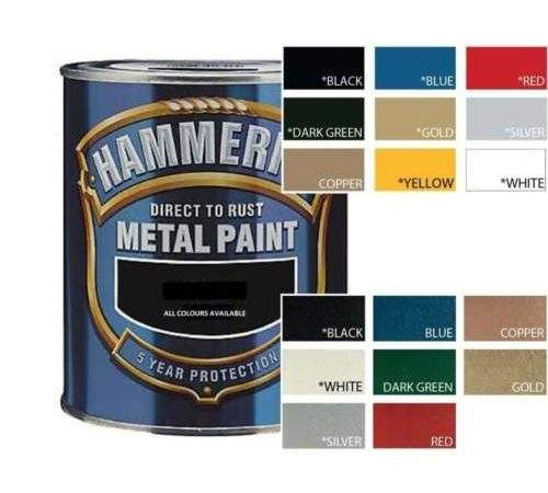 Hammerite Direct Rust Metal Paint All Colours