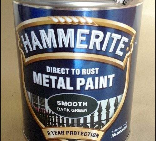 Hammerite Direct Rust Metal Paint Tin Various Colour