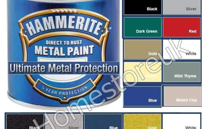 Hammerite Metal Brush Paint Hammered Smooth Finish Outdoor