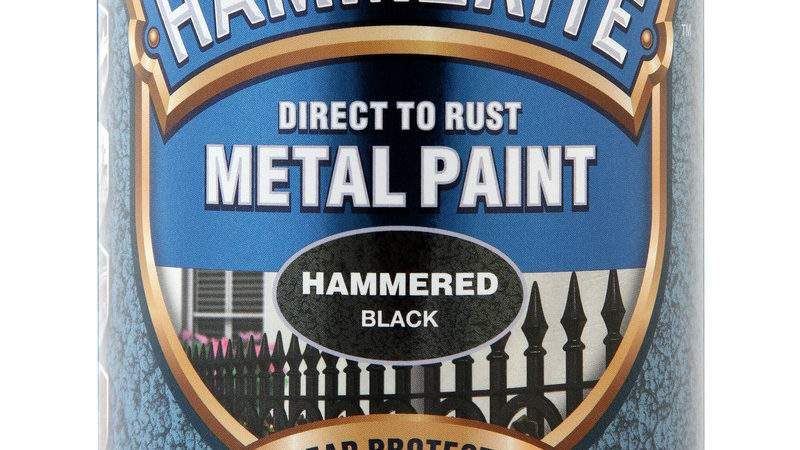 Hammerite Metal Paint Hammered Black Toolstation