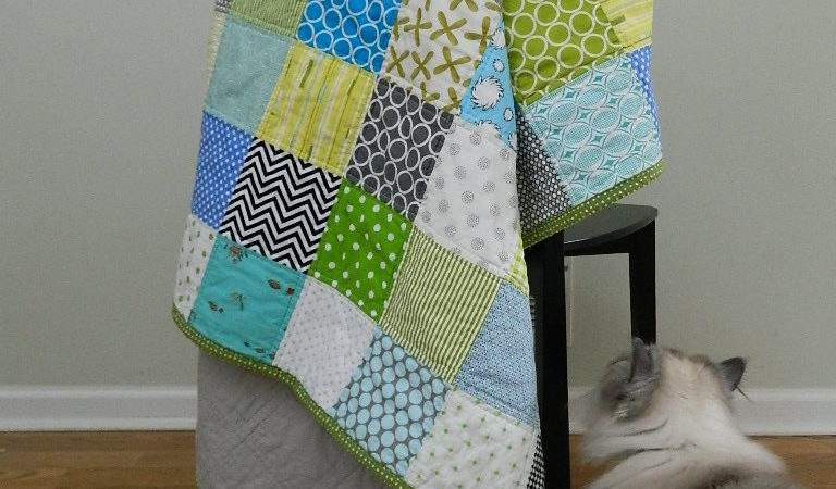 Handmade Simple Patchwork Quilt All Finished