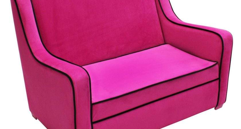 Harmony Kids Camille Sofa Hot Pink Black Not