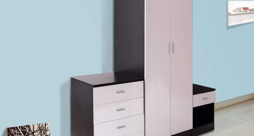 High Gloss Bedroom Furniture Set Piece Large Door
