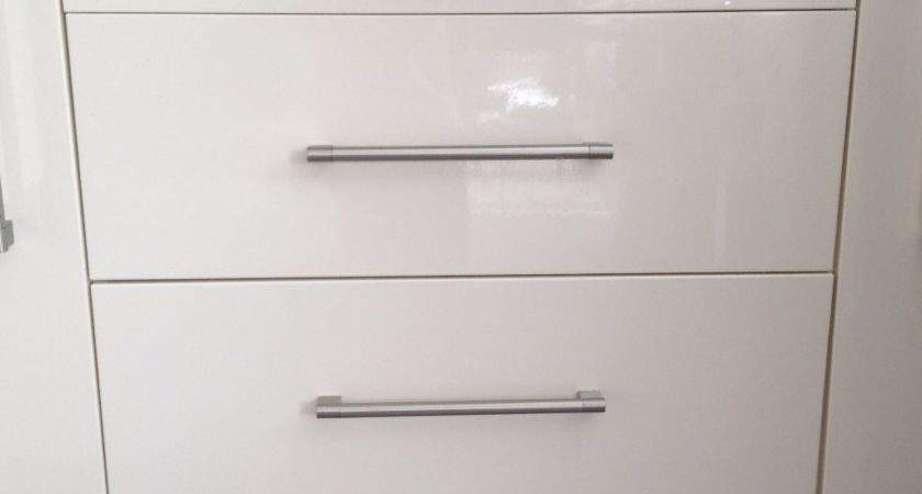 High Gloss Cream Kitchen Cupboard Doors Drawer Fronts