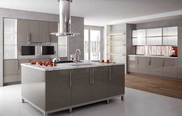 High Gloss Solid Surface Kitchen Modern
