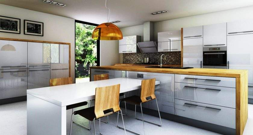 High Gloss White Kitchen Cabinets Cost Chicago