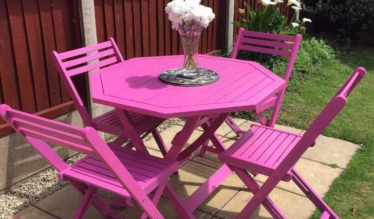 High Quality Rare Funky Pink Garden Furniture Set Solid