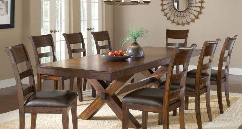 Hillsdale Park Avenue Piece Trestle Dining Room Set