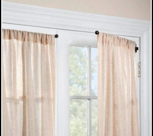 Hinged Curtain Rods French Doors Curtains Home