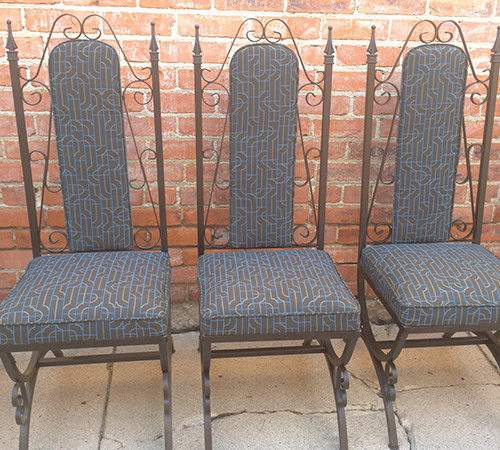 Hollywood Regency Gothic Dining Chairs Set Good