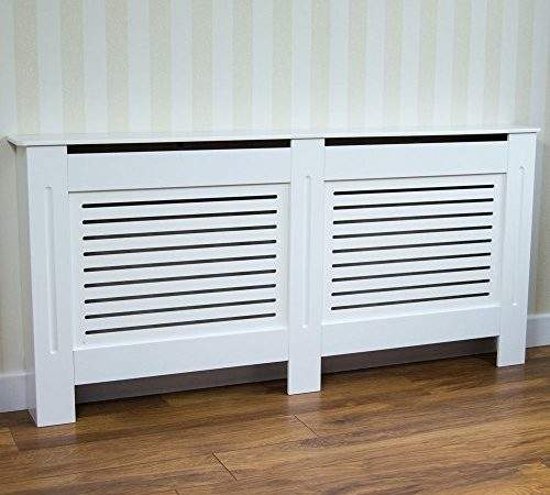 Home Discount Milton Radiator Cover Modern White Painted