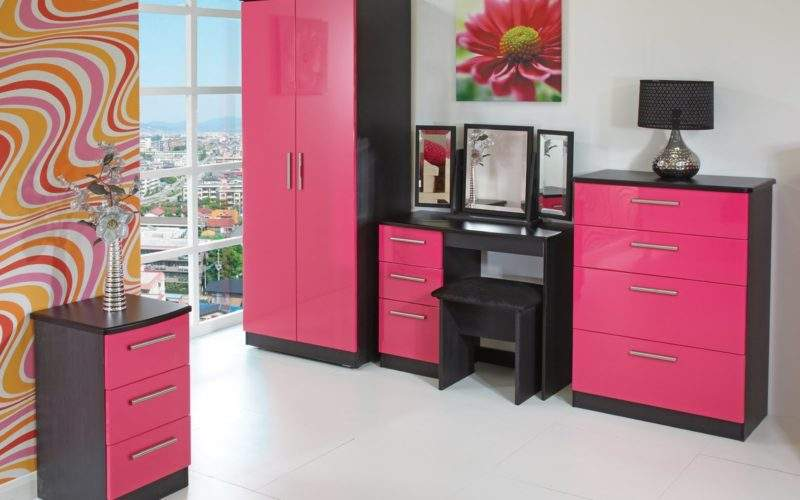Home Furnishings Furniture Store Pink High Gloss