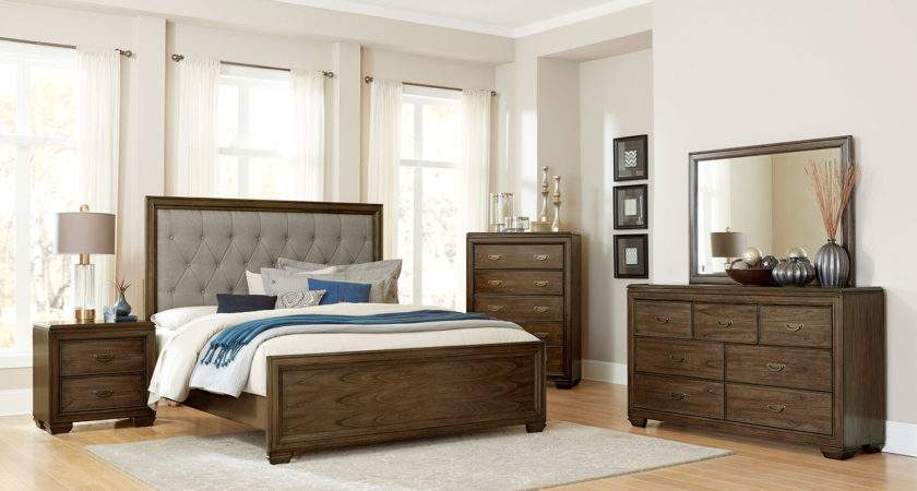 Homelegance Leavitt Button Tufted Upholstered Bedroom Set