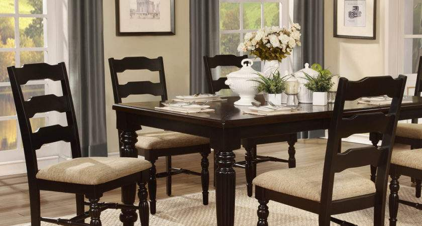 Homelegance Sutherlin Piece Dining Room Set Black