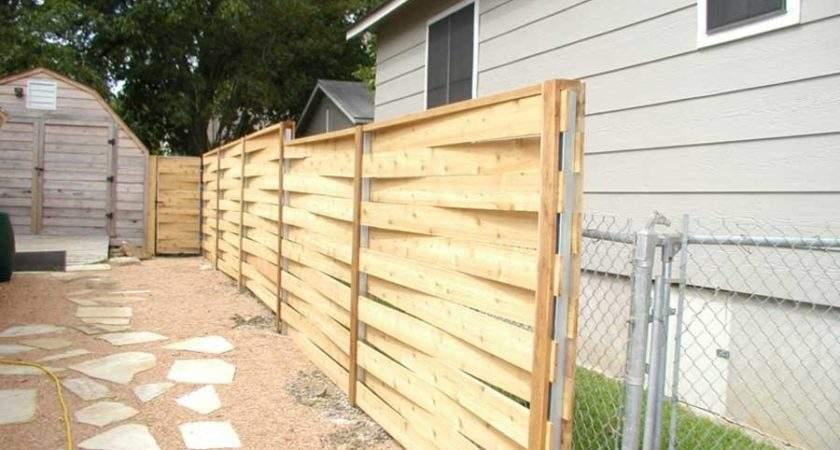 Horizontal Fence Ideas Can Make Smooth Transition