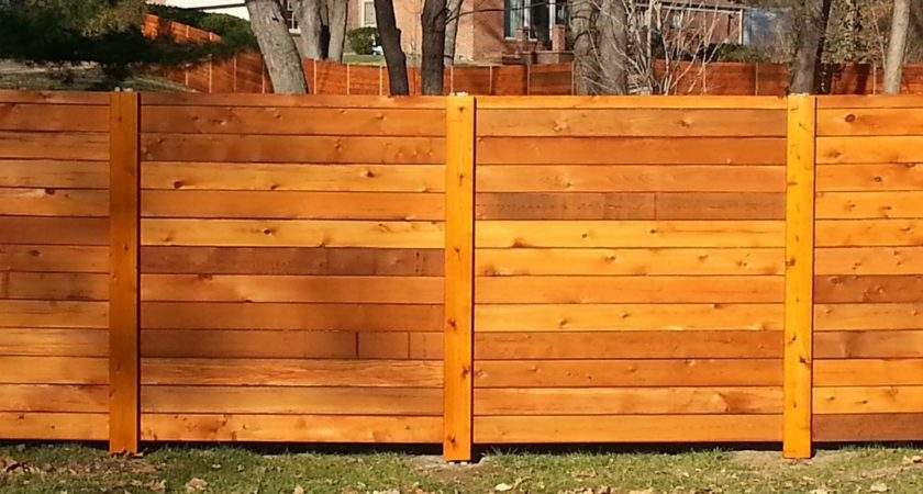 Horizontal Fence Panels Privacy Protection