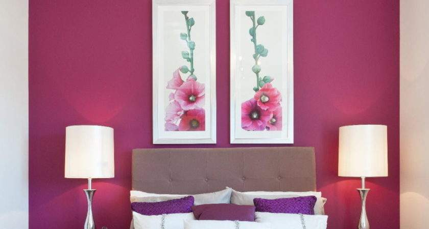 Hot Pink Bedroom Paint Crystal Chandelier Two