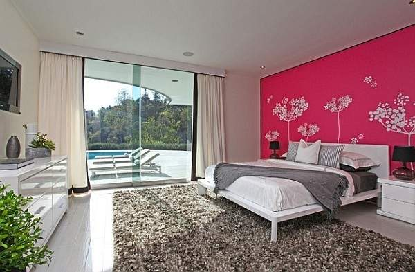 Hot Pink Paint Colors Bedrooms Lovely