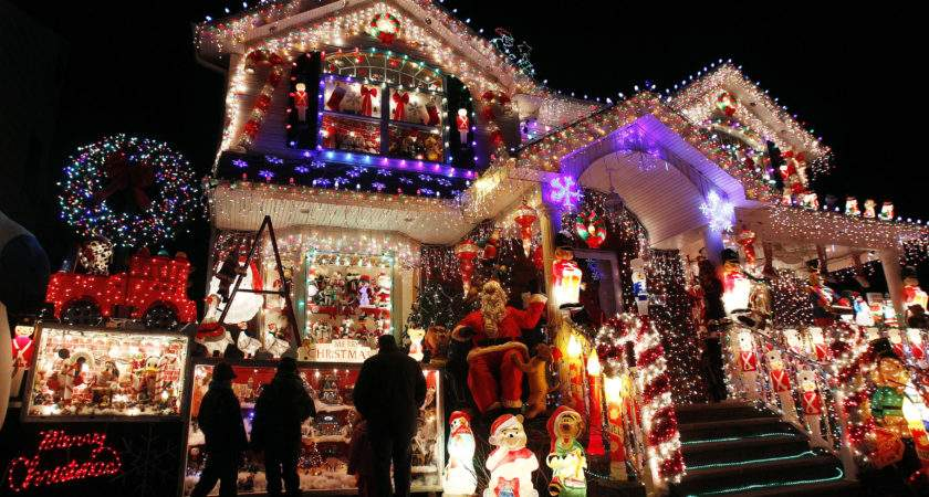 House Seen Decorated Christmas Lights