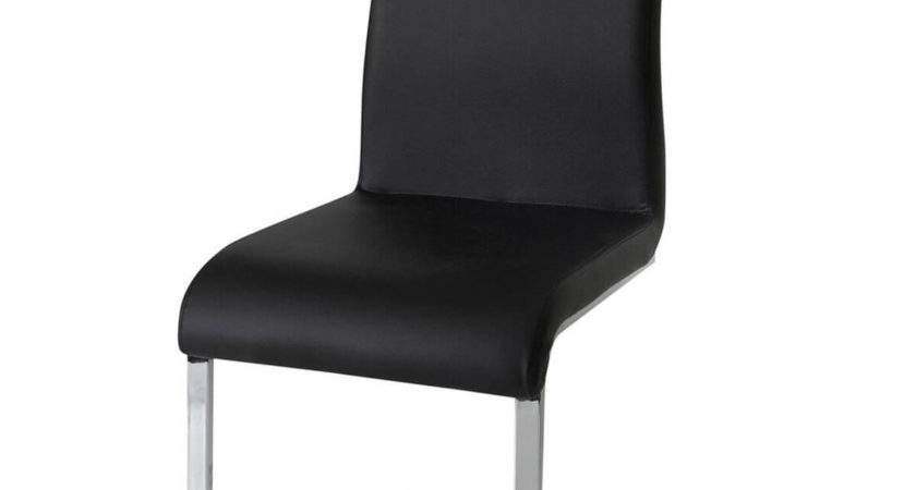 Hue Multi Coloured Faux Leather Dining Chairs Black Fads