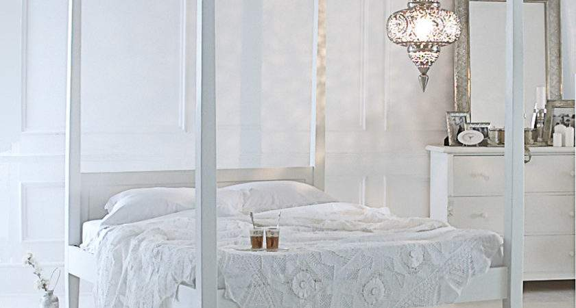 Ideas Bedrooms Pure White Boho