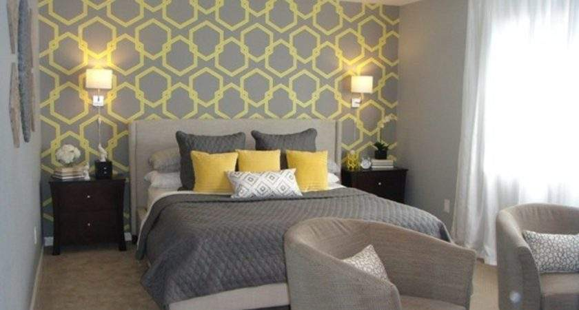 Ideas Decorating Grey Yellow Bedroom Incredible Homes