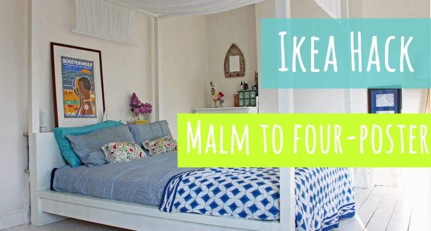 Ikea Hack Malm Bed Into Four Poster Youtube