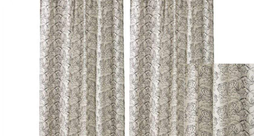 Ikea Ryssby Curtains Drapes Black Beige Natural
