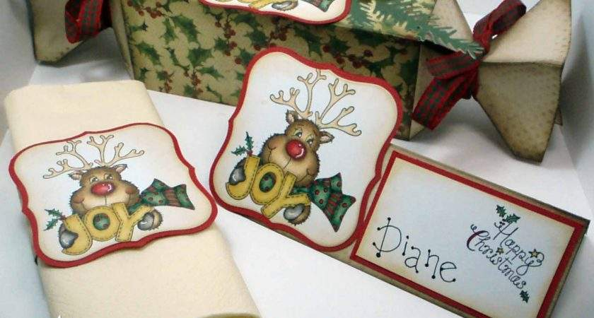 Inky Meanderings Christmas Place Setting