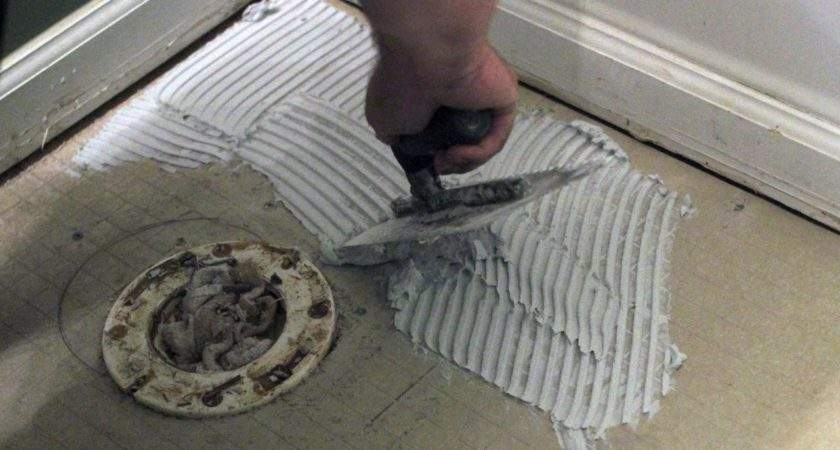 Install Bathroom Floor Tile Tos Diy