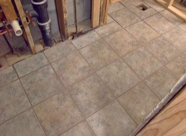 Install Tile Bathroom Floor Tos Diy