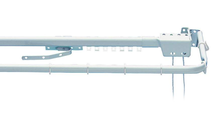 Integra Twosome Corded Metal Extendable Curtain Track