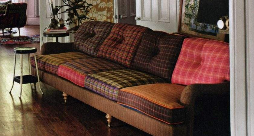 Interior Decoration Ideas Tartan Plaid Sofa
