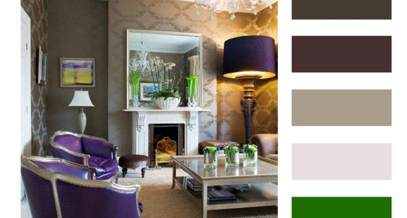 Interior Design Color Palettes Chip Purple