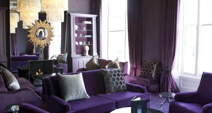 Interior Design Living Room Purple