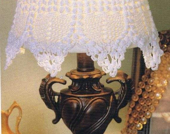 Items Similar Lacey Lamp Shade Crochet Pattern Home